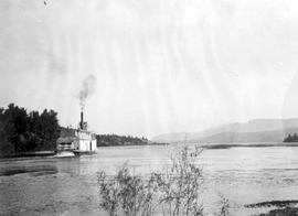 SS Isabelle Mccormack Entering Windermere Lake Near Golden.