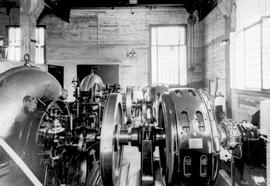 """Interior view of Barriere powerhouse, City of Kamloops""."