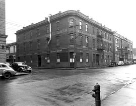 The northeast corner of Broad and Broughton Streets, Victoria; the back corner of the Yarrow Buil...
