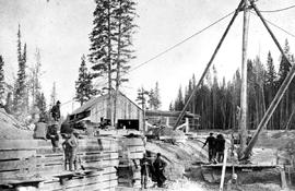 Construction Of Kootenay Canal At Canal Flats. Lock  Building