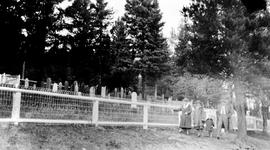 Unidentified Group Outside The Barkerville Cemetery.