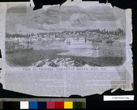 View of Victoria, Vancouver Island; engraver S. F. Baker.