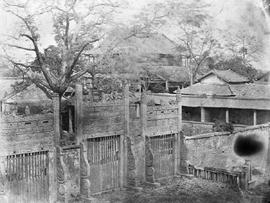 [Canton, China]  18. [Another view of the gates of the Joss house seen in HP078434]