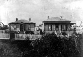 residence of Mr. David McCaulloch; Manager, Bank of British Columbia in New Westminster in 1864.