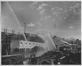 Auxiliary fire dept. organized by Civil Defence in yards of North Vancouver Ship Repairs Ltd., No...