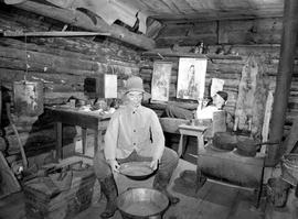 Barkerville; interior of one of the Chinese workers' cabins.