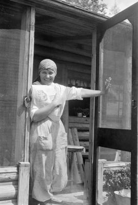 Alf O'Meara's wife, Dorothy; at her family home near Vanderhoof.