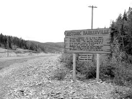 Barkerville. Information Sign