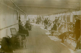 """Promenade deck, Empress of India, looking aft from grand saloon entrance"""