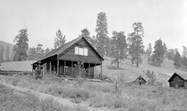 """Empty house and neglected property next to McKerr's, Glenmore, July 1926, sold by Mr. Casorso to Miss Mearns""."