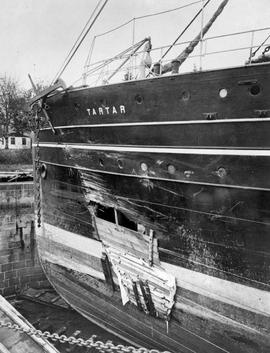 Damage to the SS Tartar in the collision with the SS Charmer.