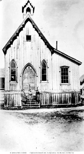 St. Saviour's Anglican Church, Barkerville; built shortly after the fire of 1868; the pews a...