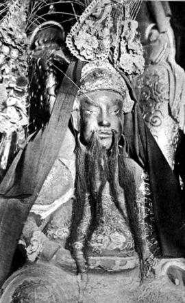 """An Idol In The Confucian Temple At Victoria, BC""; Said To Be Kuan Gong, Popularly Know..."