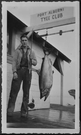 Fish catch as the Tyee Club, Port Alberni