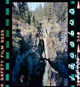 Waterfall In Marble Canyon, Kootenay National Park