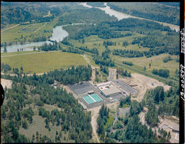 Aerial Of The Kootenay Fish Hatchery At Wardner