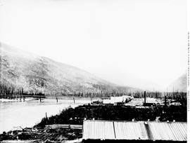 Lower Revelstoke during the construction of the Canadian Pacific Railway.