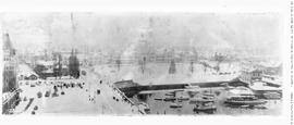 View of the inner harbour and the legislative buildings, taken from the Belmont Building during t...