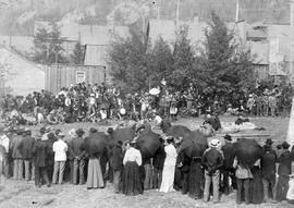 """Drilling contest, Nelson, BC""."