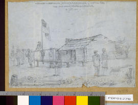 """Hustings and Returning Officer's residence; election 1860 for Salt Spring Island and C..."