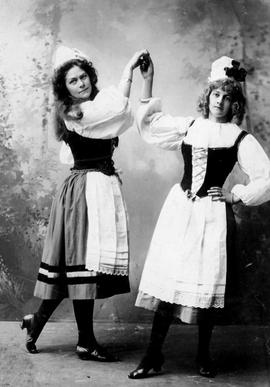 "A Victoria production of ""Robin Hood""; Ethel McMicking and Lottie Baker pictured."