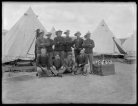 Soldiers in camp dress, Vernon
