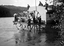 Group of surveyors repairing the SS Nechacco on the Nechako River.