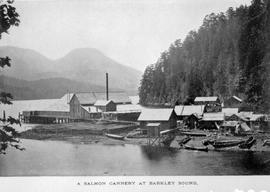 """A salmon cannery at Barkley Sound."""