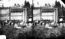 Group of natives at camp; from Newcombe collection box 7.16.