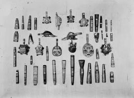 A collection of Queen Charlotte Island native crafts; Landsberg collection.