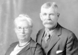 Mr. and Mrs. Joseph Marshall; Mrs. Marshall was a nurse who operated a private hospital, the firs...