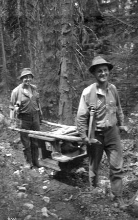 Patrolmen Packing Stove Up Moyie Mountain