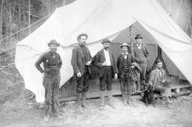 Various officials from the White Pass and Yukon Railway.