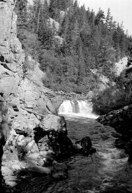 Falls at salmon house; Dean River.