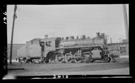 2-8-0, No. 3615, Consolidation. Right Broadside. Semi-Closeup. Good Detail. Coquitlam