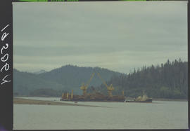 Loaded Log Barge, Queen Charlotte City Queen Charlotte Islands