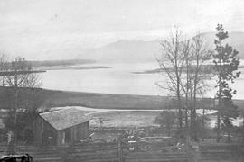 Kamloops Museum photo; looking over the east end of Kamloops Lake from Tranquille