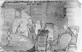 """Our first night at ""Barnsbury"", Burnside Road, Victoria, BC, Nov 10th 1892; Nona,..."