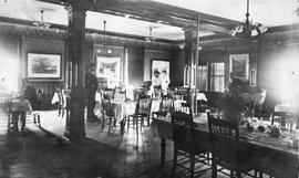 Dining room at the Phair Hotel, Nelson