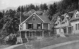 """School, Yale BC""; formerly Andrew Onderdonk's residence, became All Hallows School."