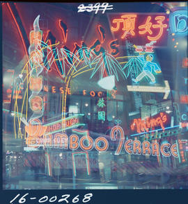 Chinatown, Vancouver. Neon Collage
