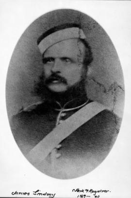 James Lindsay, clerk and registrar from 1869 to 1890; a sergeant in the Royal Artillery.