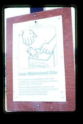 Sign - User Maintained Site