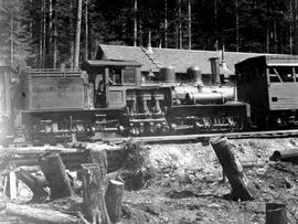Bloedel, Stewart And Welsh Locomotive, Myrtle Point