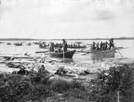 Indians coming in to 'take Treaty' on Great Slave Lake