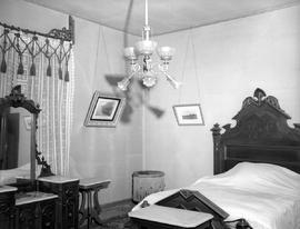 One of the bedrooms at Hollybank; once the home of Mr. and Mrs. Robert Paterson Rithet, photo taken after Mrs. Rithet's death; 952 Humboldt Street, Victoria.