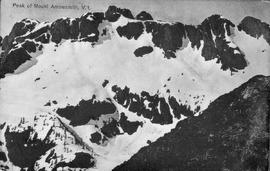"""Peak of Mount Arrowsmith, Vancouver Island""; geological survey of Canada."