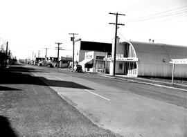 Beacon Avenue in Sidney; Gem movie theatre at centre in the quonset hut.