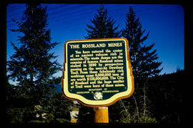 Stop of Interest sign, Rossland Mines
