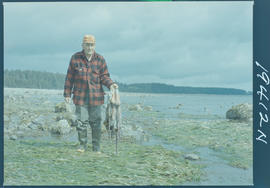 Fisherman Holding Octopus, Queen Charlotte Islands